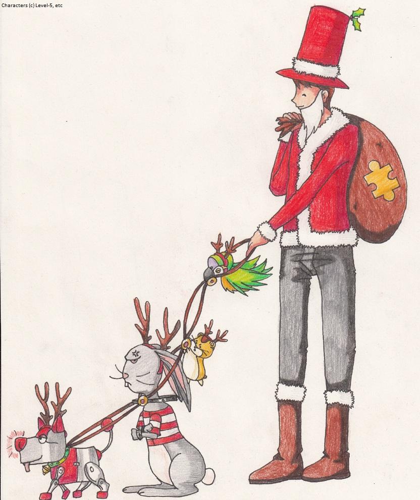 Santa Layton and his Lamedeer by SamCyberCat