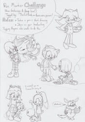 Pen Challenge with Sonic Characters by SamCyberCat