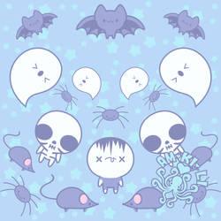 Blue Pastel Goth Pattern