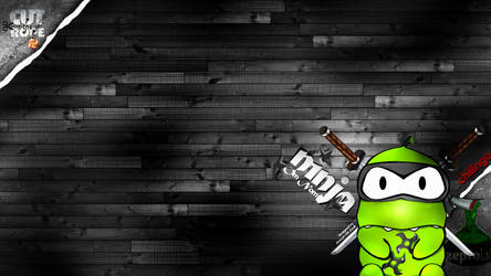 Cut the Rope - Ninja Wallpaper by zsoltott