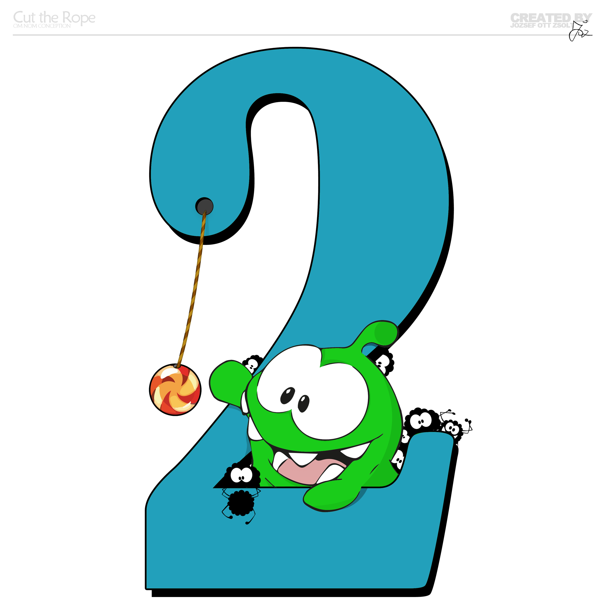 how to draw cut the rope 2 characters