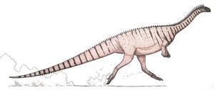 Massospondylus carinatus leaps