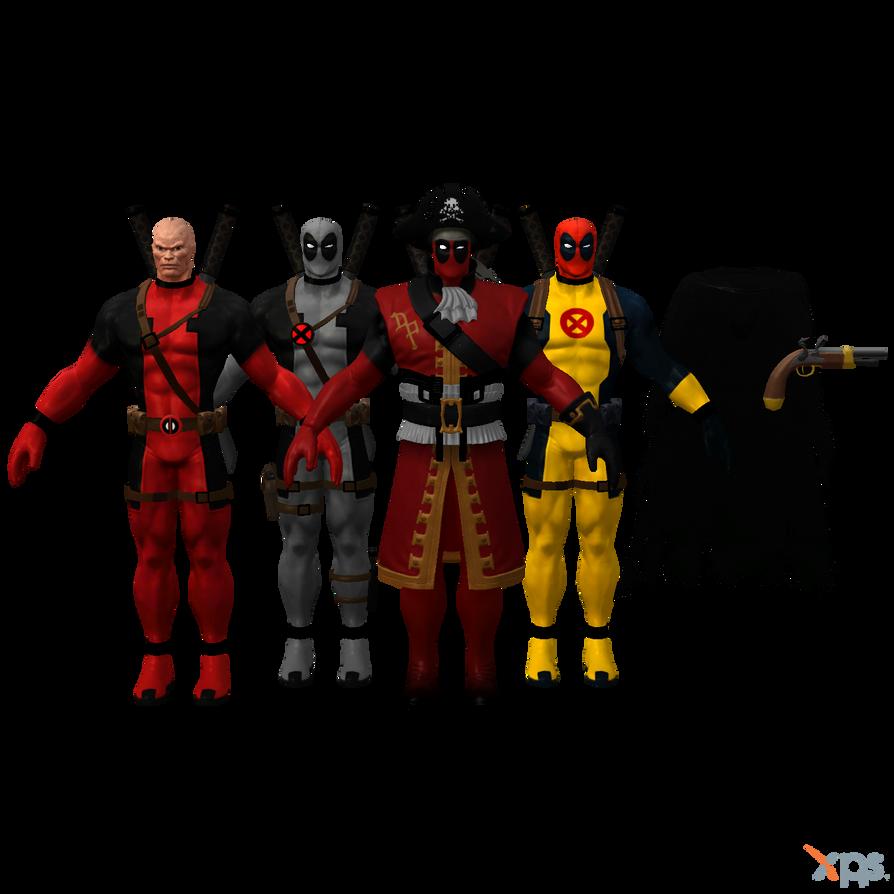 MH - Deadpool Pack II by Postmortacum