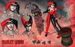 Posing Sketches - Harley Quinn