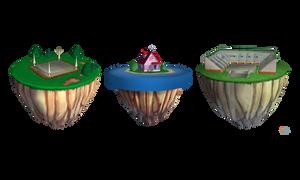 DBFZ - Islands (Pack I) by MrUncleBingo