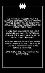 Batman: Strange Shades - Hiatus