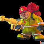 Crash Team Racing (NF) - Dingodile (Fire Fighter)