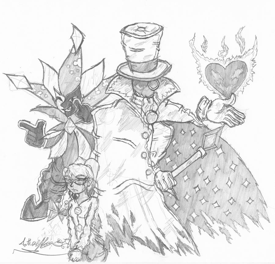 Super Paper Mario Villains - For Chuggaaconroy RE by Otomedius-Neko