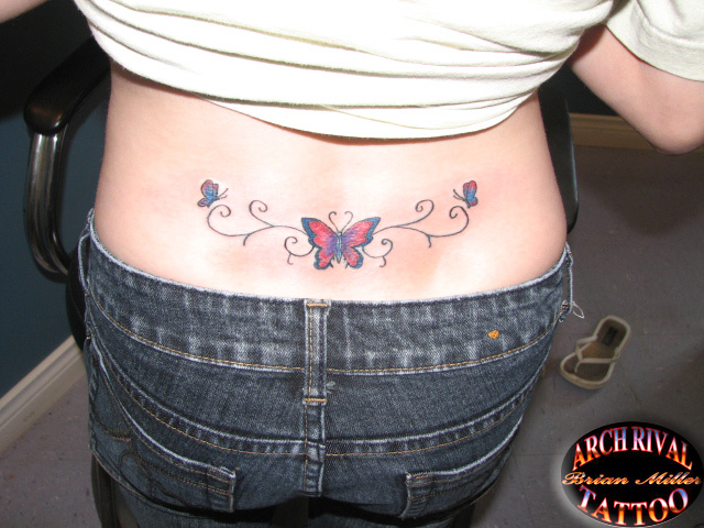 lower back butterfly tattoo. lower back butterfly tattoo