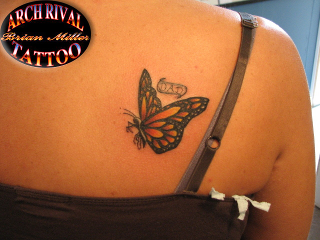monark butterfly tattoo by theothertattooguy
