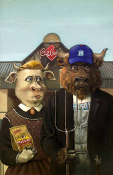 Bisons - American Gothic