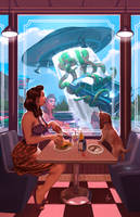 Space Diner by anatomista