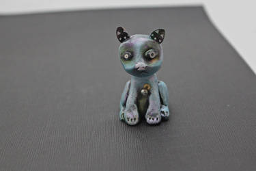 Sad robot cat by sillysarasue
