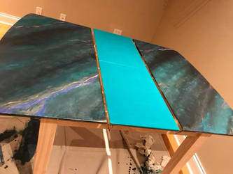 Painted table by sillysarasue