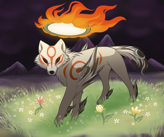 Okami Amaterasu by DrawingForTheSun