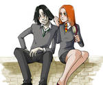 Lily and Snape - Coloured