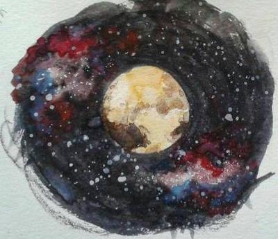 Pluto in Watercolor by CaptStaccato