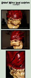 Urdnot Wrex - Head Sculpture by mortinfamiART