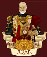 Game of Thrones: House Lannister by mortinfamiART