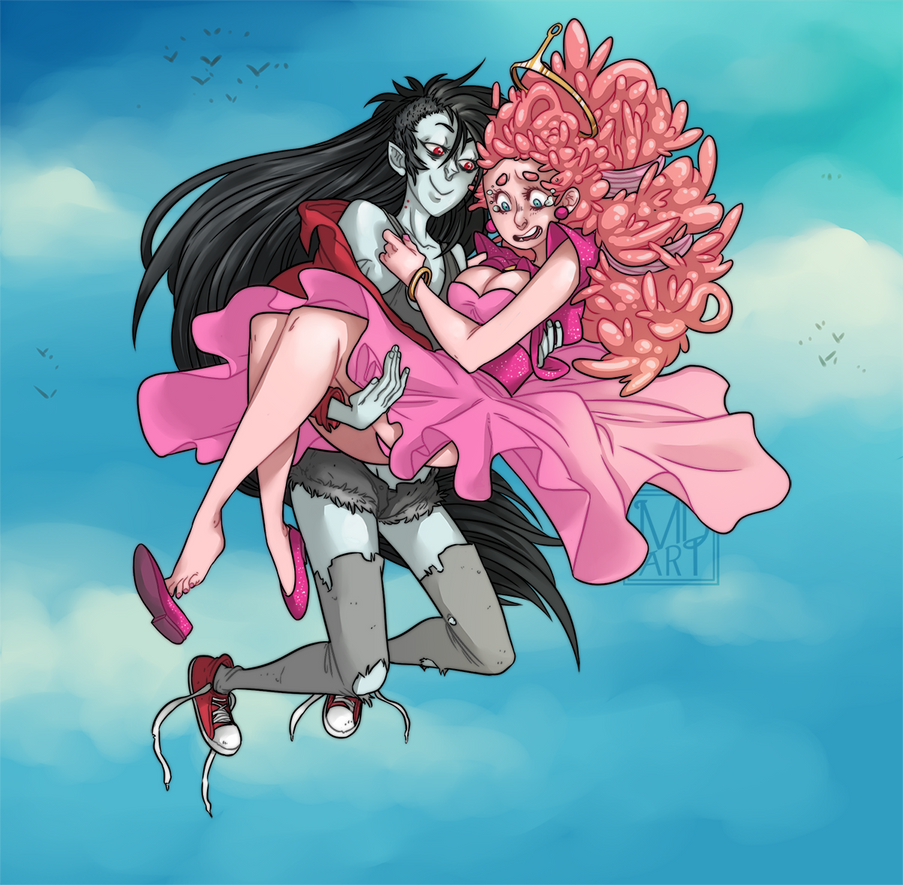 Bubblegum and Marceline - do you trust me? by mortinfamiART