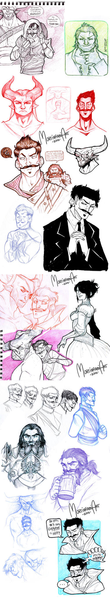 Dragon Age Inquisition - sketchdump #4 by mortinfamiART