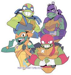 Rise of thr Teenage Mutant Ninja  Turtles by mortinfamiART
