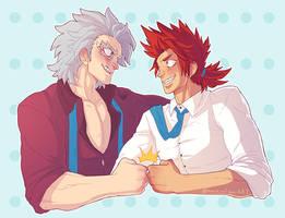 Tetsutetsu and Kirishima - BEST FRIENDS