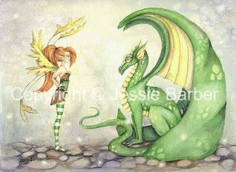 The Dragon Tamer by FaeryDustArt