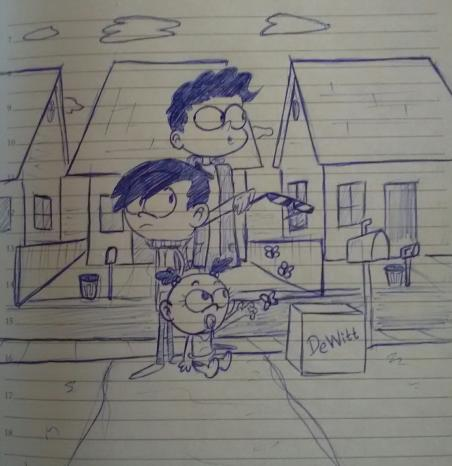 The Loud House OC's: Vincent, Jason, and Sophia by ULTRADJ4EVER