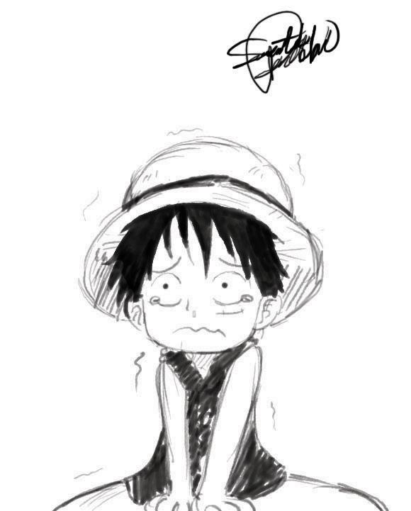 Sad Luffy Doodle By Sammiethedorkwonder On Deviantart