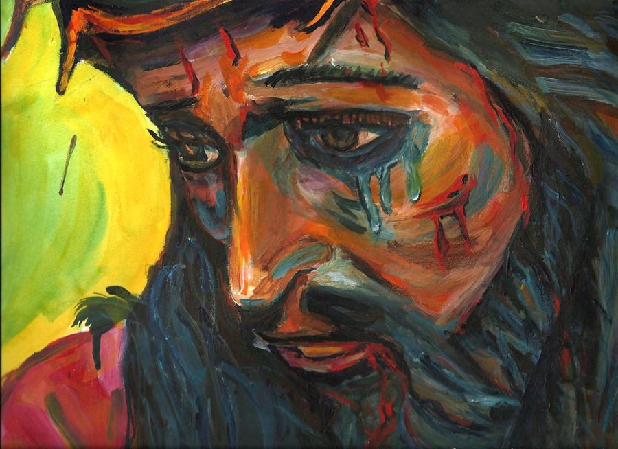 jesus tears and blood acrylics by mrhectormex