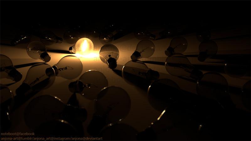 Ligtbulbs by Anjona