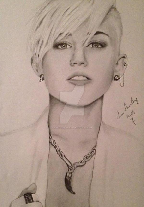 Miley Cyrus - Pencil Sketch by Whoriskey1986