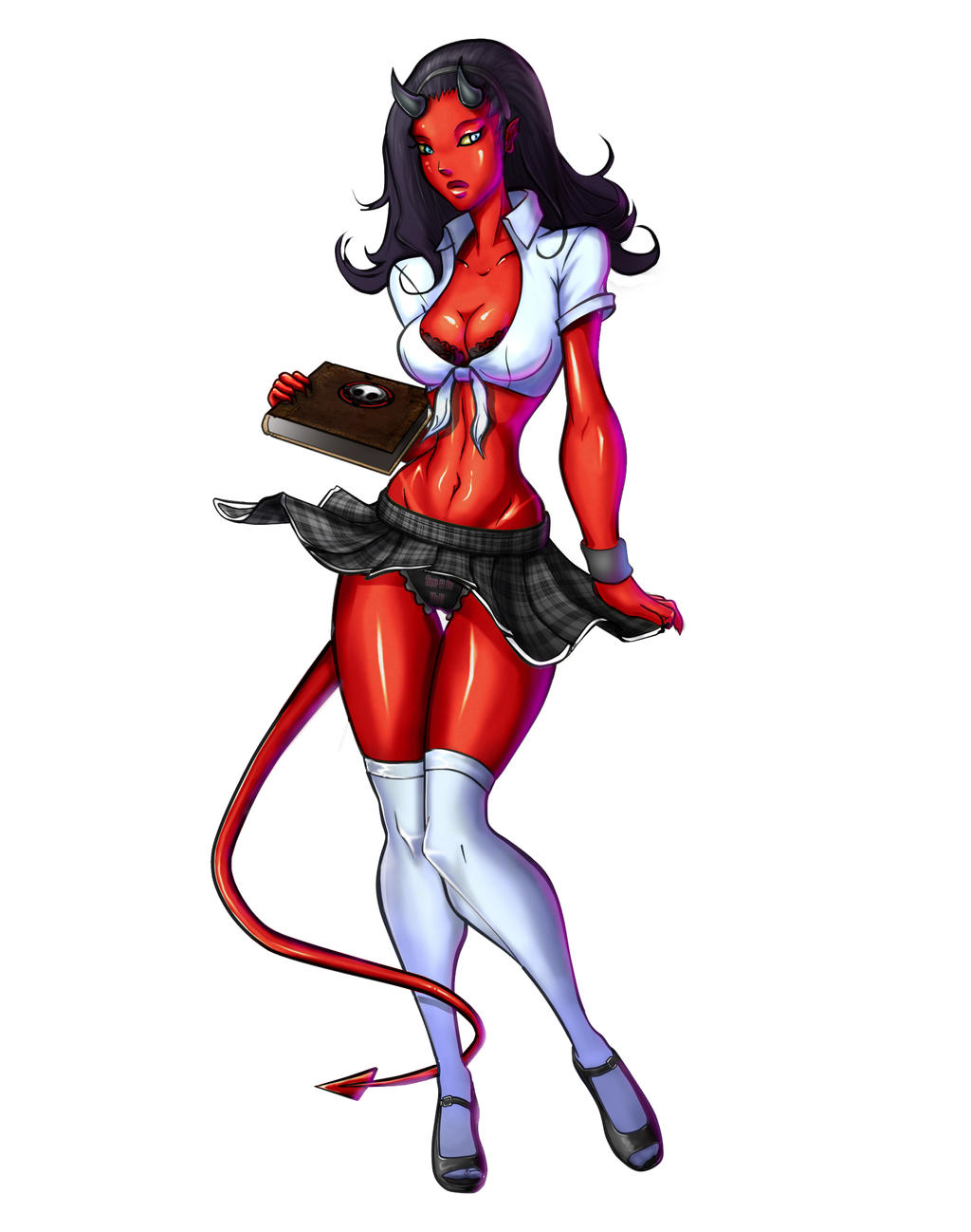 Demon school girl pinup by bogusbadge on deviantart - Hot demon women ...