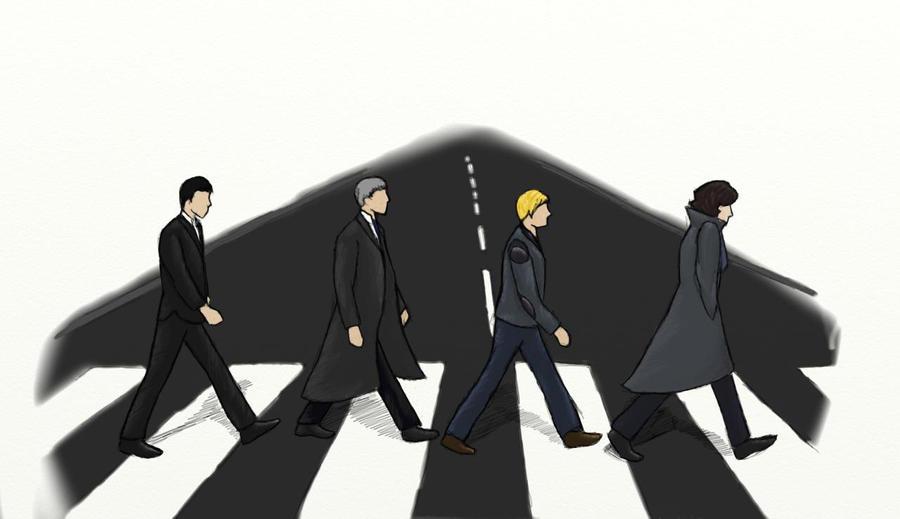 Abbey Road - Sherlock Style by SherlockROCKSmySOCKS