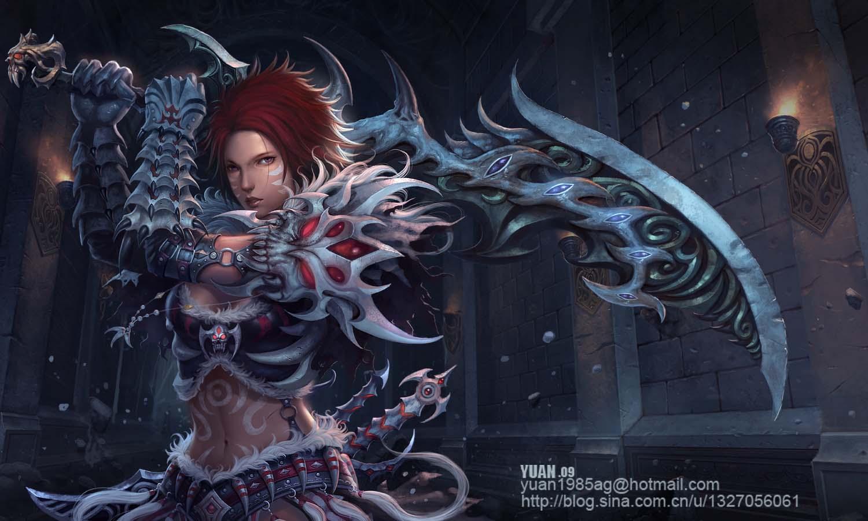 A Female Berserker by ChaoyuanXu