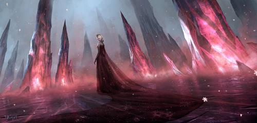 Dark Queen Elsa by ChaoyuanXu