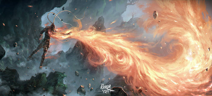 The Monkey King and the Phoenix' Flame