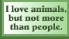 Animals vs. People by stamptrove