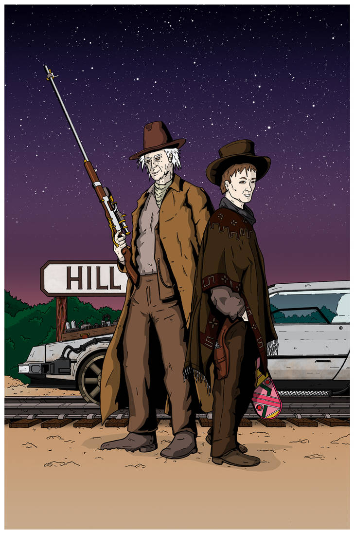 Back to the Future Part III - Doc and Marty pinup by hectorbustnuts