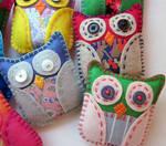 Mini Felt Plush Owls