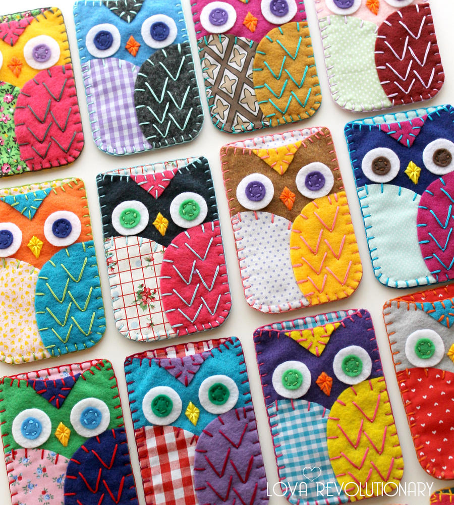 Case Design owl cell phone case : Felt Owl Phone Case Embroidery by lovarevolutionary on DeviantArt