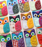 Felt Owl Phone Case Embroidery