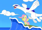 Fluttershy and Lugia