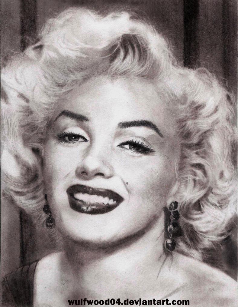 Marilyn Monroe Portrait Sketch by wulfwood04