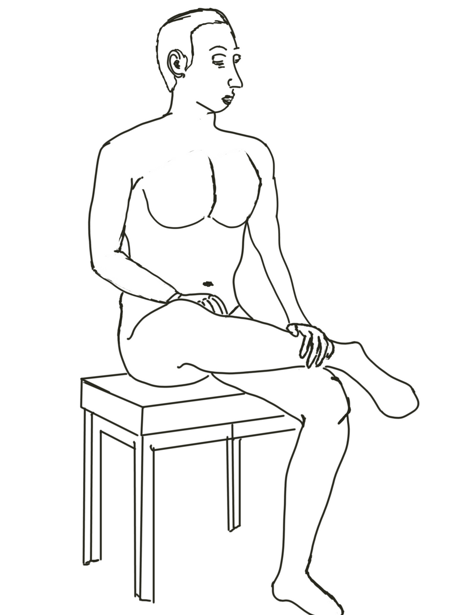 Sitting Man2 by RachBurns