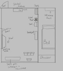 Bedroom Layout by RachBurns