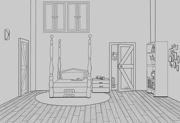Cera's Bedroom v.2 by RachBurns