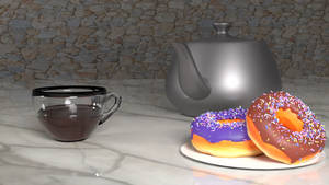 Two Donuts and a Coffee