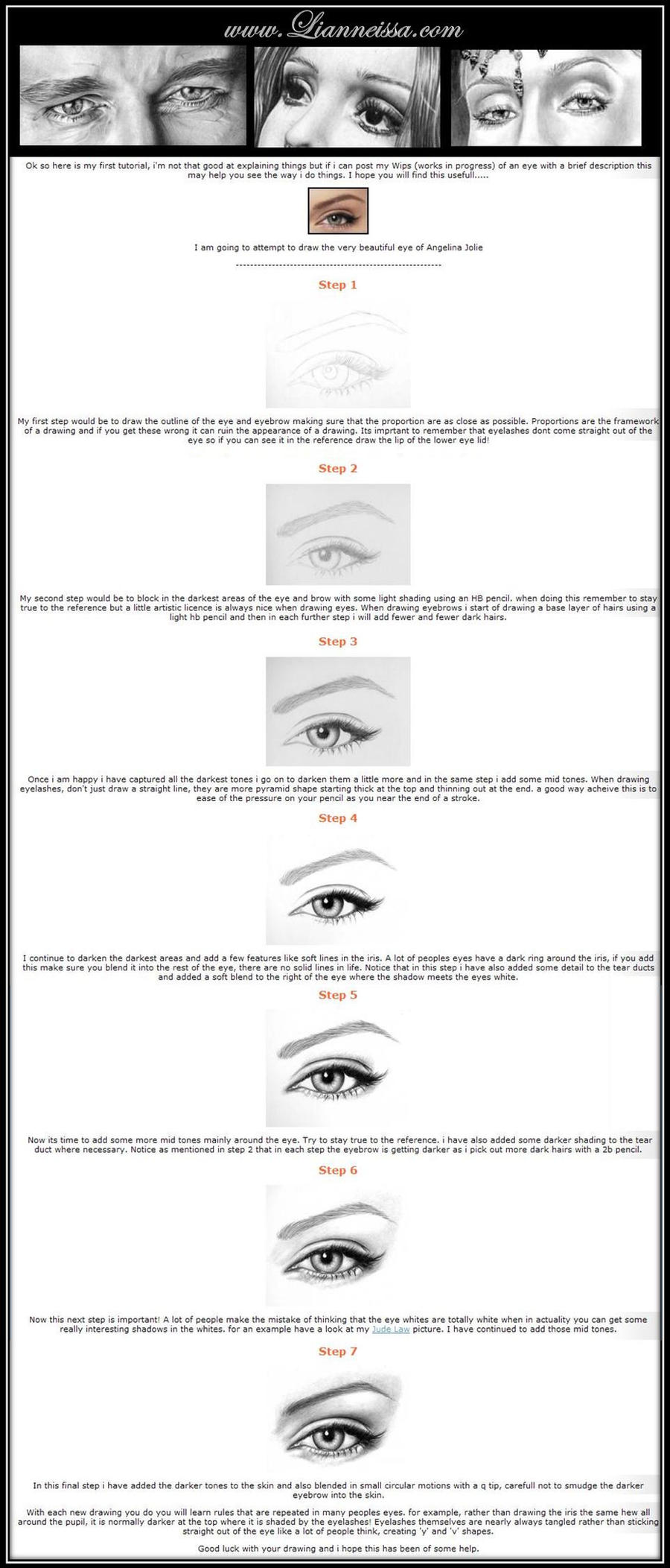 eye tutorial - Graphite pencil by Lianne-Issa